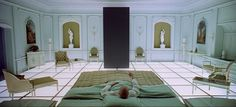Use of lines and symmetry, which can give an interior a subtle feeling of eerie artificiality. (2001:A space odyssey)