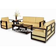 JualKursi Sofa Ruang Tamu Minimalisdesain Kursi Sofa Jok yang nyaman empuk yang berlapis lapis, bahan kerangka Kayu Jati Perhutani warna Cat Hitam elegant