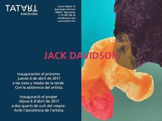 """OPENING IN BARCELONA this Thursday April 6 Jack Davidson: """"brain... glitter"""" at TAT ART BARCELONA reception at 7:30 p.m. Stop on by if you are in Barcelona! . http://www.tatart.net @tatart_barcelona . And of course you can see Jack Davidson's beautiful work in Los Angeles at CB1 Gallery. Just ask! . . . #JackDavidson #TatArtBarcelona #ArtOpening #barcelona #ContemporaryArt #arte #artcontemporani #artecontemporaneo #spain #abstraction #AbstractArt #CB1Artist"""
