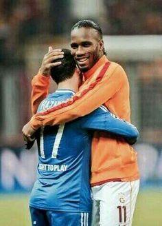 Didier Drogba with Eden Hazard #CFC