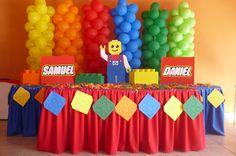 Ideas para decorar cumpleaños infantiles tematica LEGO 3