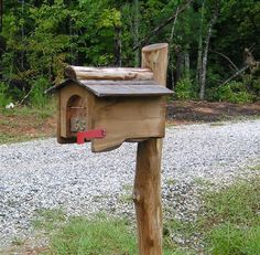 Mailbox for school garden.  Place to hold garden maps