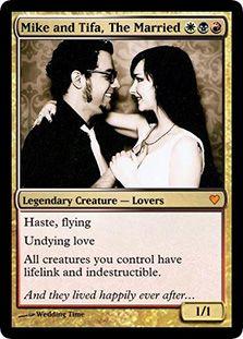 Mike and Tifa Wedding. mtg. magic the gathering.