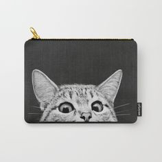 """CARRY-ALL POUCH MEDIUM (9.5"""" X 6"""") You asleep yet? by Laura Graves"""
