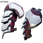 GOTHIC LEATHER GORGET & SPAULDERS Sca Larp Ren Faire Medieval Templar Neck Armor