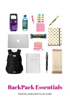 It's officially back-to-school time! So you know what that means.... school  supplies!! This is arguably my favorite time of the year (I have a serious  obsession with school supplies, I know I'm a dork.) In honor of  this time  I've put together some essential to always have in your backpack, and they  aren't all just supplies.