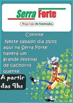 O 1º festival de cachorro-quente de 2014 na Serra Forte aconteceu junto com um mega feirão de pisos, cerâmicas e revestimentos!