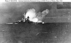 British battlecruiser HMS Hood sunk by German battleship Bismarck and heavy cruiser Prinz Eugen in the Denmark Strait—only 3 survive out of crew of Ww2 History, Naval History, Military History, Sink The Bismarck, Hms Prince Of Wales, Hms Hood, Prinz Eugen, Heavy Cruiser, History Online