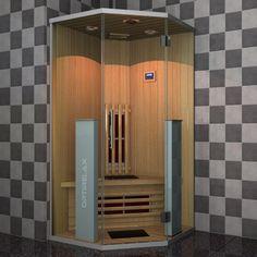 Mini Infrarotkabine Shine im garten integrieren Infrarotsauna Infrarelax Shine Sauna Steam Room, Sauna Room, Mini Sauna, Infrarot Sauna, Portable Sauna, Traditional Saunas, Diy And Crafts, The 100, Led