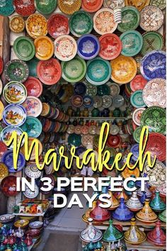What are all the things to do in Marrakech in 3 days? This Marrakech itinerary lays out the best way to see all the Marrakech highlights in a short trip to Morocco. Including tips on Marrakech tours and where to stay in Marrakech! Marrakech Travel, Morocco Travel, Africa Travel, Morocco Destinations, Morocco Itinerary, Travel Destinations, Cool Places To Visit, Places To Travel, Best Travel Guides
