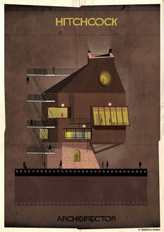 Whimsical Illustrations Imagine Famous Movie Directors As Buildings - DesignTAXI.com