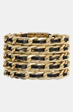 Pretty leather and link bracelet. Screams #Chanel at a fraction of the price.