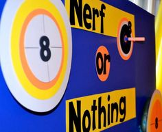 Nerf Birthday Party Ideas | Photo 1 of 62 | Catch My Party