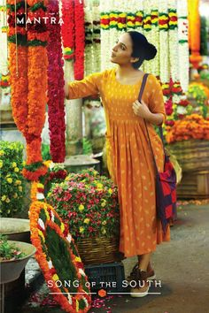 IDEAS FOR STICH FIX Song of the South - A collection inspired by the colours and textiles of Tamil Nadu. Currently available at our outlet in Lulu mall, Kochi, and coming soon to our online store! Casual Frocks, Casual Dresses, Fashion Dresses, Summer Dresses, Indian Attire, Indian Ethnic Wear, Salwar Designs, Blouse Designs, Indian Dresses
