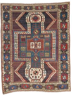 Caucasian Sewan Kazak rug, late 19th century