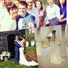 #Dominiss Поздравляем нашу позитивную невесту Юличку с днём бракосочетания! Платье Cecillia из новой коллекции Dominiss