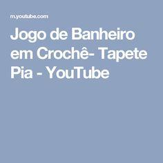 Jogo de Banheiro em Crochê- Tapete Pia - YouTube