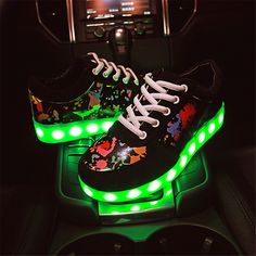 new fashion MaiDun Lover LED luminous colorful shoes Female casual shoes dancing or party at night
