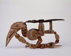 Hornbill carving Late century, c. 1880 Northern New Ireland Wood, shell, opercula h. Life Form, Pattern And Decoration, Animal Sculptures, 19th Century, Ireland, Shell, Arts And Crafts, Carving, Visual Arts