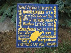West Virginia University sign WVU Mountaineers sign by lawler01