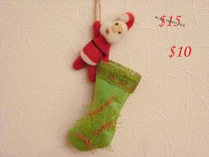 BLACK FRIDAY SALE! Christmas Stocking by OlessiaWoolPets