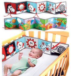 Cute Baby Cloth Crib Cognize Book Intelligence Developmental Toy Pram Nursery | eBay