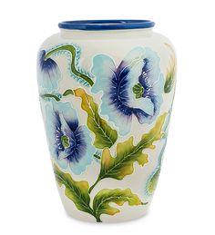 """Ваза для цветов из фарфора """"Голубые маки"""" BS-245 / Коллекция Blue Sky / Вазы, кашпо, цветы / Каталог / R-Gifts – интернет магазин подарков и сувениров.  #decor #gift #giftidea #pavone #porcelaine #vase #vases #ваза #вазадляцветов #вазы #подарок #фарфор"""
