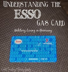 Understanding the ESSO gas card can be intimidating and overwhelming for newcomers or those due to PCS to Spangdahlem. For those of you who don't know what an ESSO gas card is living in Germany as a military family requires you to use an ESSO gas card, so that you do not have to pay [...]