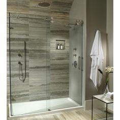 Multi-threshold shower base and glass shower enclosure from MTI. Shower Panels, Shower Doors, Shower Stalls, Bad Inspiration, Bathroom Inspiration, Bathroom Ideas, Shower Ideas, Shower Remodel, Bath Remodel