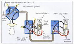 3-way power at light diagram