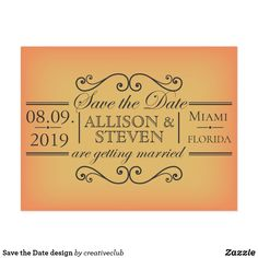 Save the Date design #weddinginvitation #savethedate