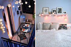 Ideias decoração romântica lar luzes