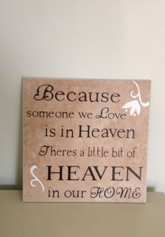 Heaven Quote Tile by meghanweller on Etsy  Must hang this in my new house