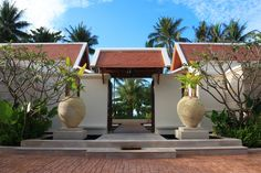 Modern Thai Villa Entrance