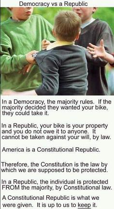 """It pisses me off when people say; """"America is a democracy"""". Also if you truly love this country and consider yourself an american, you know the pledge of allegiance doesn't say """"democracy"""", it says; """" And to the republic for which it stands. Majority Rule, Out Of Touch, Thing 1, Conservative Politics, Deep, God Bless America, Benjamin Franklin, We The People, In This World"""
