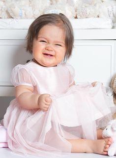 Grace of Sweden, festklänning i rosa siden och tyll