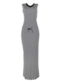 Vestido longo tipo sereia listrado na cor branco em tamanho G. O vestido sereia é tendência da estação! Seu comprimento longo e a modelagem ajustada são suas principais caracterísiticas. O modelo confeccionado em malha de viscose com um toque de elastano é casual e perfeito para combinar com uma sandália rasteira ou de salto. Com modelagem regata, decote arredondado com contraste de cor em ribana, amarração por cordões na cintura, ao longo da peça, são encontradas listras que deixam o look…