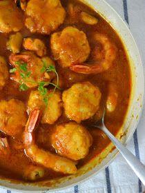 Cuuking! Recetas de cocina: Albóndigas de merluza con gambas y mejillones