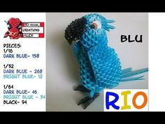 HOW TO MAKE 3D ORIGAMI BLU FROM RIO TUTORIAL || DIY 3D ORIGAMI BLU FROM RIO TUTORIAL - YouTube