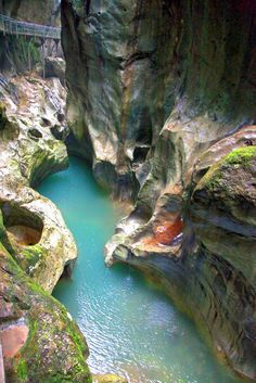 Les Gorges du pont du diable, near Lac Leman, France