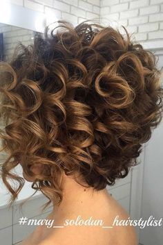 10 Trendy Short Curly Hairstyles and Helpful Tips for Curly Hair ★ See more: http://glaminati.com/trendy-short-curly-hairstyles/ #curlyhairstylesformediumhair