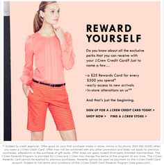 Crew Aficionada: J.Crew Email: It& great to be a Cardmember Email Newsletter Design, Email Newsletters, Email Design, Loyalty Marketing, Email Marketing, Girl Boss, Breastfeeding, Fashion Online, J Crew