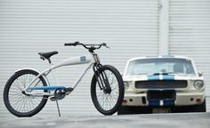 "Take your love of Shelby to the bike lanes. It's recently been announced by Carroll Shelby Licensing that the company has paired with bike maker Felt Bicycles to offer the limited edition Shelby Cruiser. A two-wheeled cycling machine, the Shelby Cruiser was designed to ""exude the Shelby image and culture,"" so it's outfitted with a..."