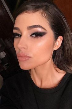 olivia culpo smokey cat eye makeup look Makeup Trends, Makeup Inspo, Makeup Tips, Makeup Ideas, Makeup Tutorials, Makeup Designs, Makeup Blog, Drugstore Makeup, Olivia Culpo