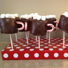 Marshmallow cups of hot chocolate