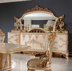 Luxury Dining Room, Mirror, Buffet, Furniture, Home Decor, Decoration Home, Room Decor, Mirrors, Home Furnishings