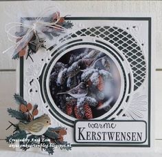 Handmade card by DT member Anja with Creatables Anja's Circle XL (LR0445) and  Craftables (CR1387) from Marianne Design