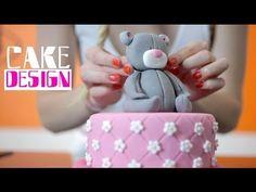 Cake design : gâteau d'anniversaire ourson pour fille - YouTube