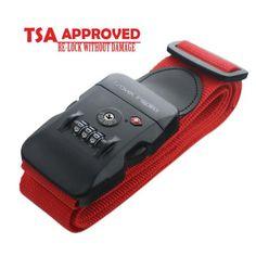Nylon Travel Luggage Strap with TSA Combination Lock - Travel Inspira - 1