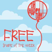 Oh Happy Day!!! Silhouette free shape of the week ~ adorable!